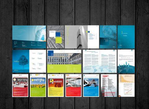 Diseño, desarrollo y producción Memorias Corporativas y publicaciones profesionales