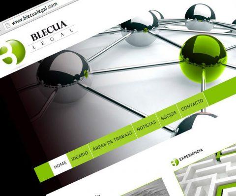 Web abogados Blecua Legal. Diseño y realización 2012