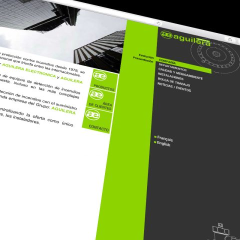 Web ingeniería Aguilera. Diseño y realización
