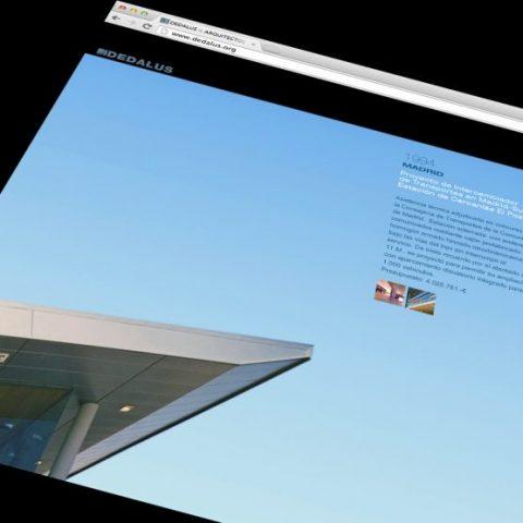 Web Arquitectos DEDALUS. Diseño y realización web site