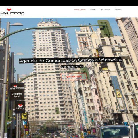 Web Hyuddoo Comunicación. Diseño, programación y actualización.